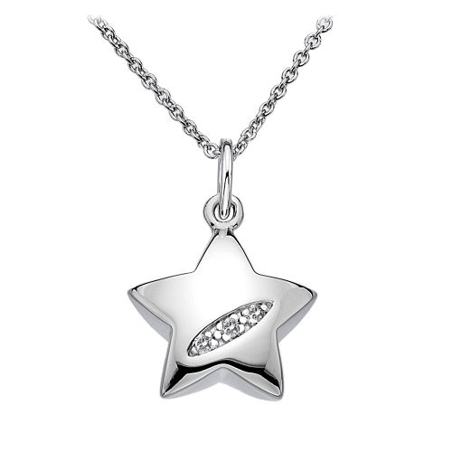 Hot Diamonds Sterling Silver Shooting Stars necklace DP400